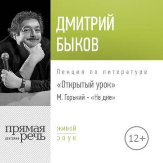 Аудиокнига Лекция Открытый урок М. Горький – «На дне»