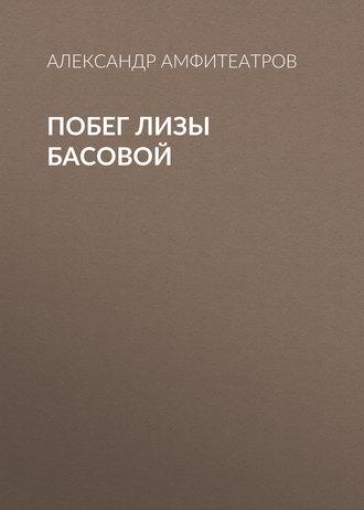 Аудиокнига Побег Лизы Басовой