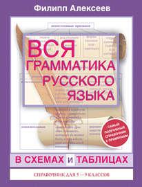 Вся грамматика русского языка в схемах и таблицах. Справочник для 5–9 классов
