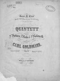 Quintett fur 2 Violinen, 1 Viola & 2 Violoncelli