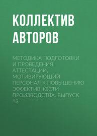 Методика подготовки и проведения аттестации, мотивирующий персонал к повышению эффективности производства. Выпуск 13
