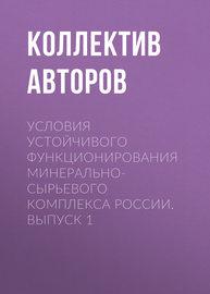 Условия устойчивого функционирования минерально-сырьевого комплекса России. Выпуск 1