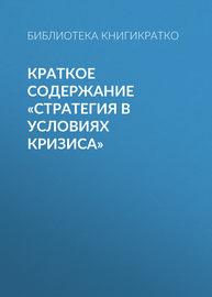 Краткое содержание «Стратегия в условиях кризиса»