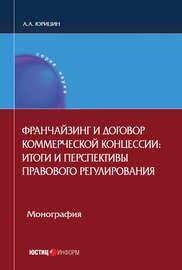 Франчайзинг и договор коммерческой концессии. Итоги и перспективы правового регулирования