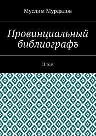 Провинциальный библиографъ. II том