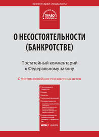 Комментарий к Федеральному закону от 26 октября 2002 г. №127-ФЗ «О несостоятельности (банкротстве)» (постатейный)