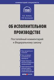 Комментарий к Федеральному закону от 2 октября 2007 г. № 229-ФЗ «Об исполнительном производстве» (постатейный)