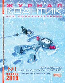 Квантик. Журнал для любознательных. №01/2019