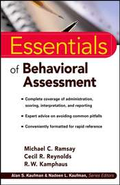 Essentials of Behavioral Assessment